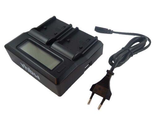 vhbw Dual Ladegerät mit Display für SONY Alpha SLT-A57M SLT-A57Y