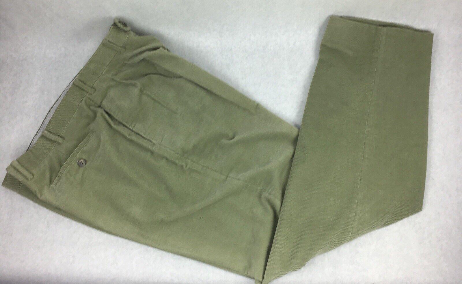 Lgold Piana Olive Green Cotton Corduroy Pants 54 IT - 44 US - L