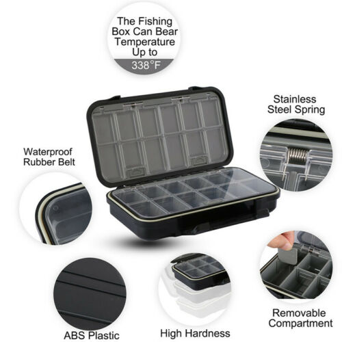 Fishing Box 24 Compartments Fish Hooks Bait Tackle Box Storage Case Container