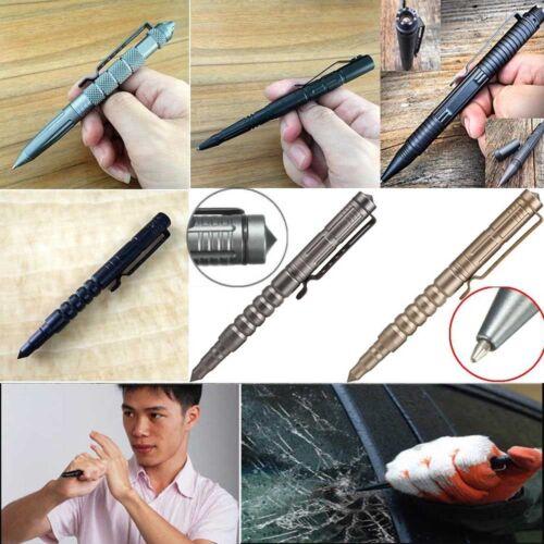Tactical Pen Ballpoint Glass Breaker Survival Emergency Outdoor Protection Field