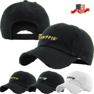 Drippin-Multi-Color-Embroidery-Dad-Hat-Baseball-Cap-Unconstructed