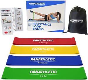 4-Bandes-Elastique-de-Resistance-Bande-Fitness-Musculation-avec-Guide-d-Exercice
