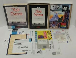 """Red Baron Expansion Disk Mission Builder MS DOS 5.25"""" PC 1992 Big Box Complete"""