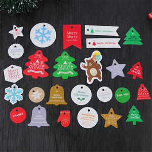 Tree Gift Box Tag Candy Bag Sticker Christmas Decoration Gifts Package Label