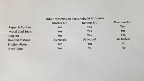 RENAULT FWD-CVT RE0F10D PEUGEOT JF016E 2012-2013 MASTER KIT W//O PISTONS