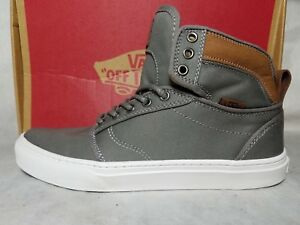 5d13b2a6ce Vans Alomar + T L Leather Brushed Nickel Grey Brown White Skate Shoe ...