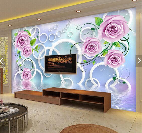 3D Camellia 739 Wallpaper Mural Paper Wall Print Wallpaper Murals UK Carly