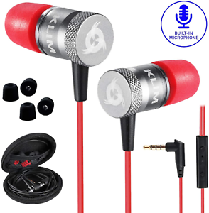 KLIM™ Fusion - In Ear Headphones with Mic + Excellent Audio Quality + Ear Buds +