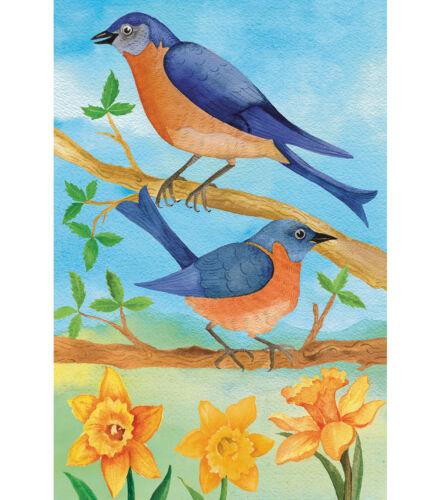 Bluebirds /& Daffodils Fabric Garden Flag 12in x 18in 1 Piece