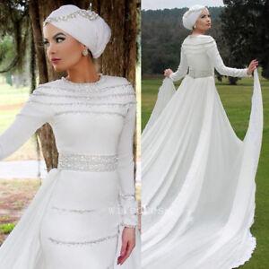 Image Is Loading Muslim Wedding Dress Arab Saudi Arabia Removable Train