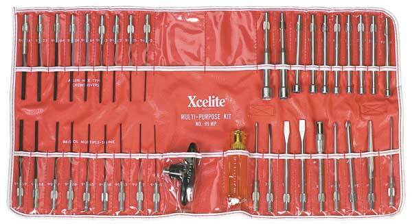 Precision Screwdriver Set,Combo,39 pcs XCELITE 99MPN