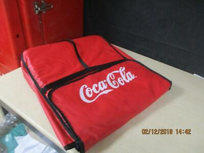 Coca-Cola Commercial Insulated Pizza Food Delivery Bag Red Large 2 Pies