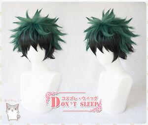 My Boku no Hero Academia Midoriya Izuku costume Cosplay Wig green mixed black
