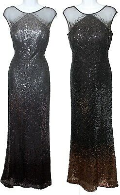 Black//Gunmetal Ignite Evenings Women/'s Missy Pocket Long Beaded Cuff Dress Gown