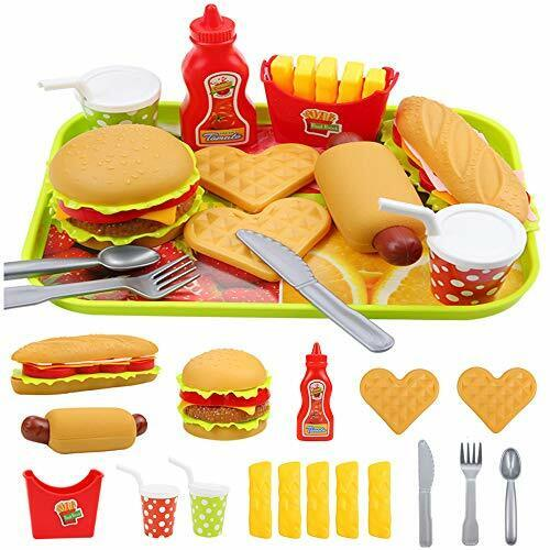 Pretend Play Fast Food Set For Kids Kitchen Accessories Toy Foods Non Toxic Sale Online Ebay