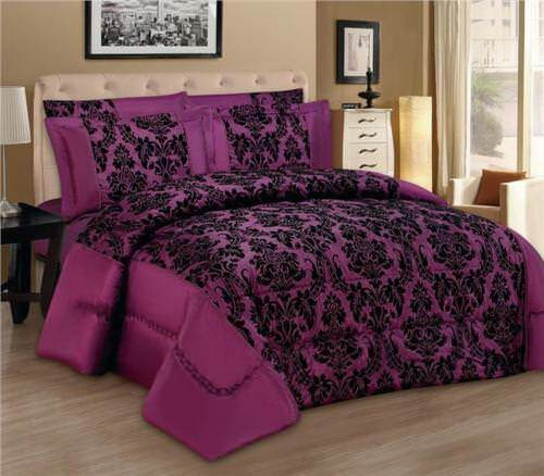 Double LUXURY 3PCS Pice Flock Quilted Bedspread Comforter Set Single King Size