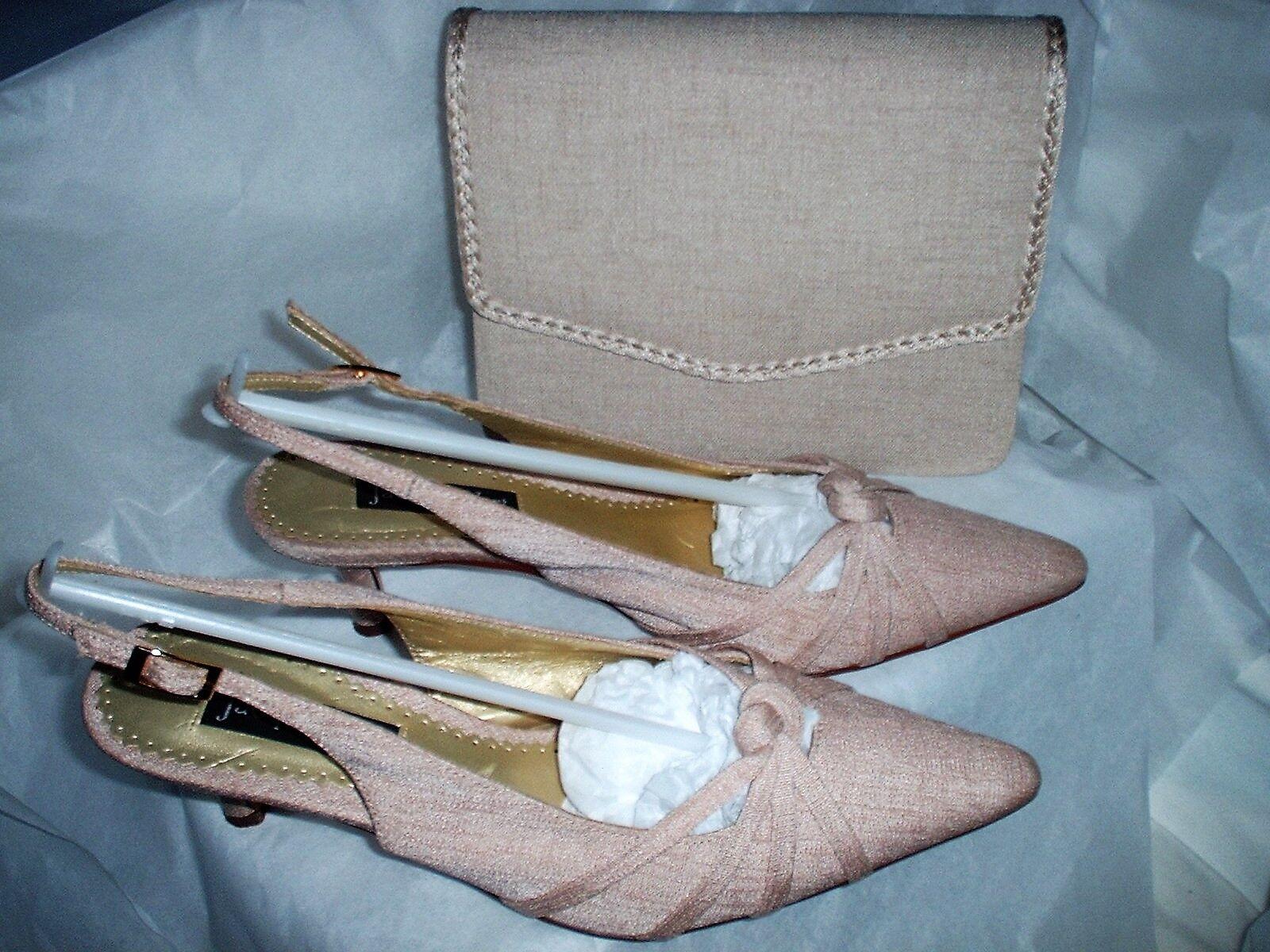 JACQUES VERT  (COOKIE RANGE) BEIGE Schuhe EU MATCHING 37. UK 4 & MATCHING EU BAG c3030f