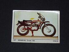 #127 MONDIAL CROSS 125 ITALIA ITALIE MOTO 2000 PANINI EDITIONS DE LA TOUR 1973