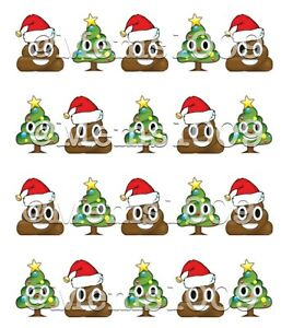 image is loading christmas poop emoji nail art water decals poop - Christmas Poop