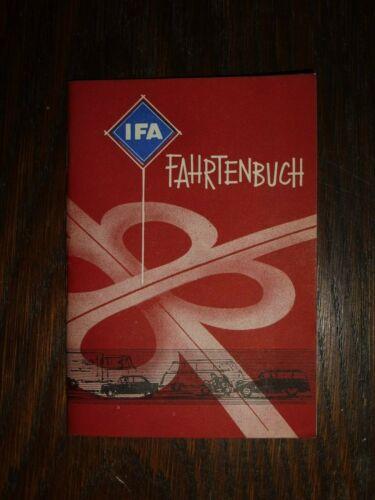 altes IFA Fahrtenbuch DDR unbenutzt mit Mobi 15x10cm IFA Werbung