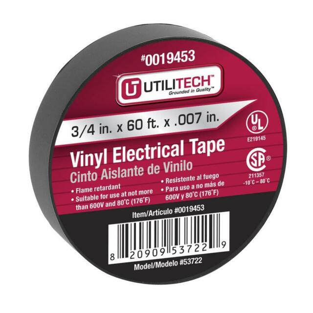 New!!! 10 Roll Per Pack Utilitech 60-ft Black Electrical Wire Tape