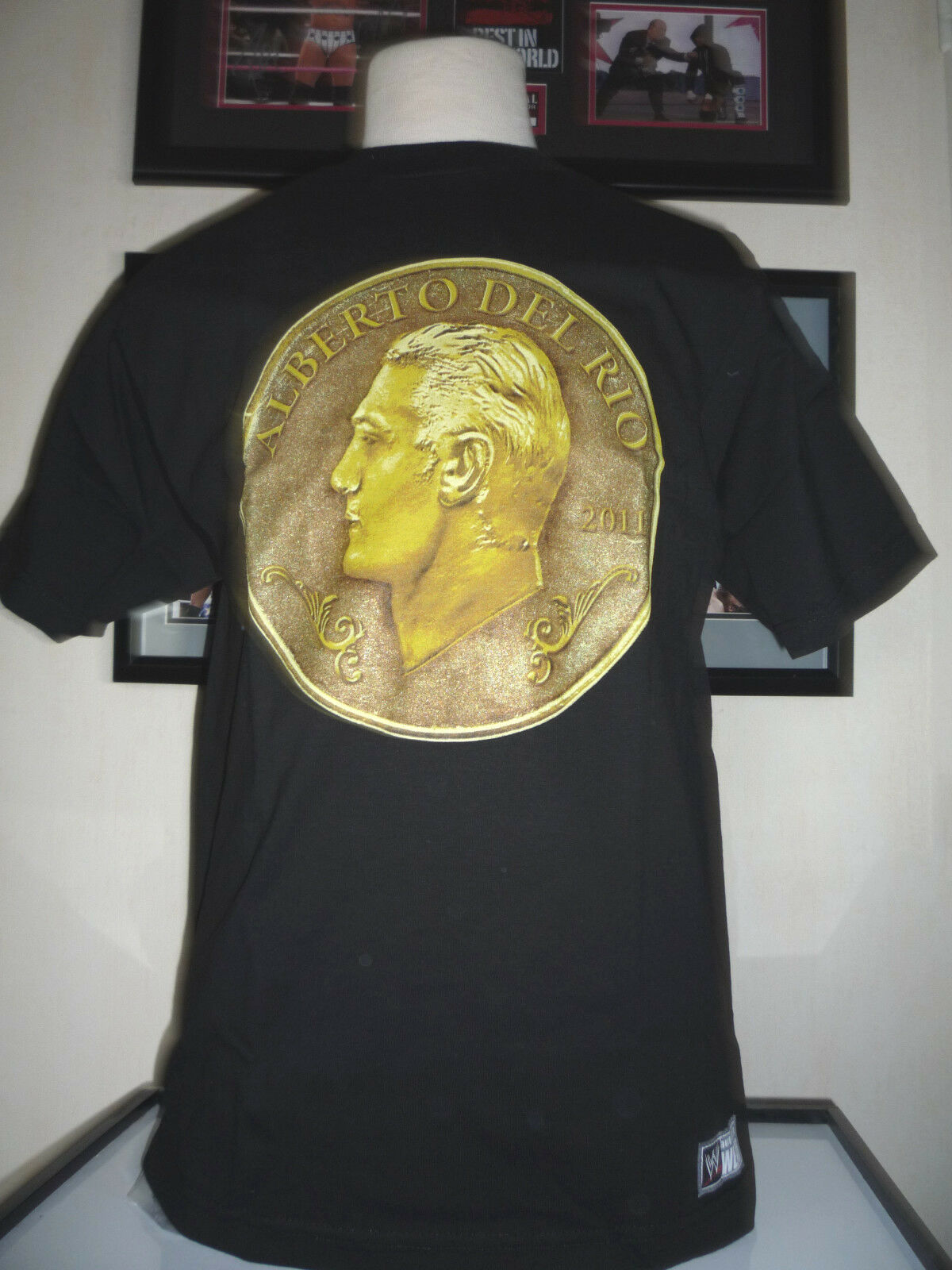 T-SHIRT CATCH WWE ALBERTO DEL RIO COIN TAILLE : S,M,L,XL,2X,3X + YOUTH M & L