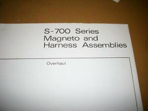 Details about Bendix S-700 Magneto & Harness Overhaul Manual