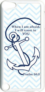 Chevron-Faith-Anchor-with-Psalm-56-3-on-iPod-Touch-5th-Gen-5G-White-TPU-Case