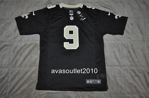 Drew Brees New Orleans Saints Nike Youth Team Game Jersey Black ... a7f6c0ebe