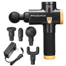 Phoenix Massage Gun Deep Tissue Massager Muscle Relaxing Machine 4 Head/Speeds