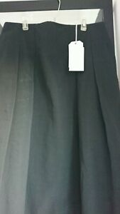 14 longuette originale cotone gr Gonna lino nero Uk Toast W1TxqXxnH
