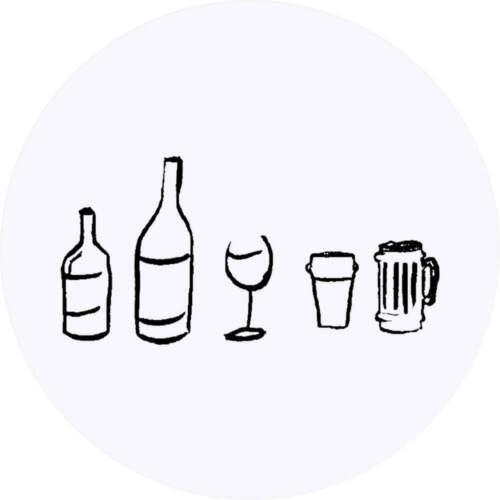 24 x 40mm Redondas /'Selección de Alcohol/' Pegatinas SK00008490