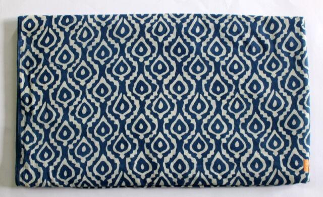 Indian hand block print 100% Cotton Indigo Dabu Jaipuri Anokhi Fabric