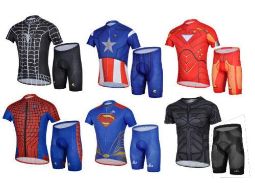 Cycling Short Sleeve Jersey /& Shorts Set Super Hero//Heroes NEW SUPERHERO