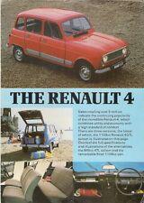 Renault 4 Estate & Van 1981 UK Market Leaflet Sales Brochure TL GTL F6