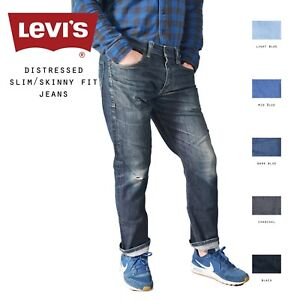 Levis-envejecido-Entallado-Pantalones-Vaqueros-Pitillo-W30-W32-W34-W36-W38
