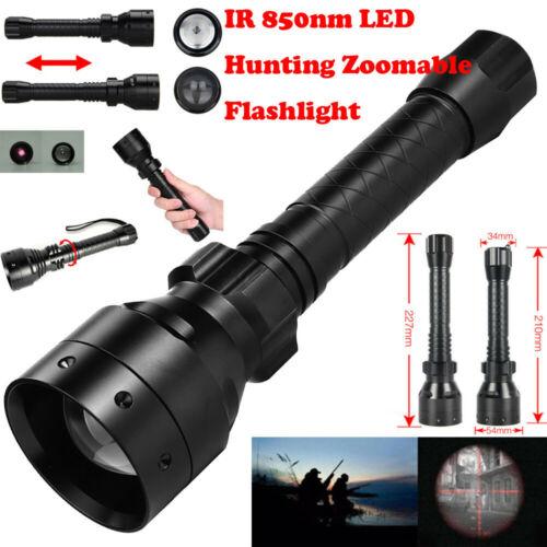 Long Range Infrared 10W IR 850nm 18650 T50 LED Hunting Night Vision Flashlight