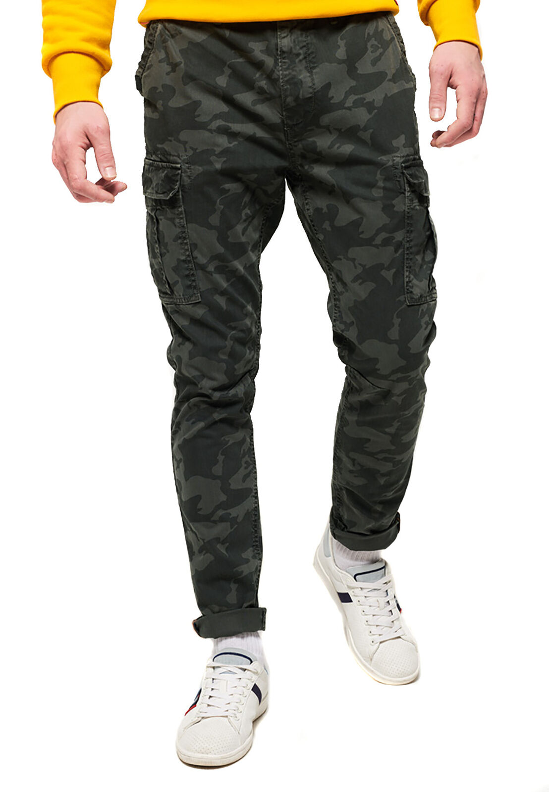 Superdry pantaloni uomo surplus goods Cargo Pants STEEL CAMO