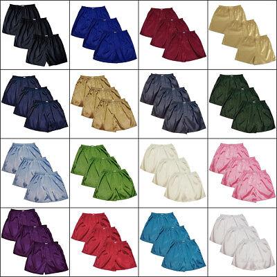 Mens Thai Silk Paisley Pattern Loose Boxer Shorts 3 Pack Underwear M L XL 2XL