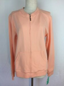 NEW-Women-039-s-Nordstrom-Soft-Pink-Zip-Up-Jacket-Size-Small-Cotton-Spandex-Blend