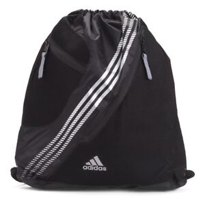 Adidas Revel II 2 Sackpack Black Silver 3Three Stripes Soccer ... 0582f3d97bb91
