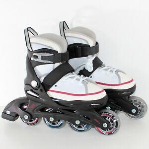 WHITE-SHOES-Starter-Inline-Skates-29-33-Inliner-5in1-verstellbar-9172