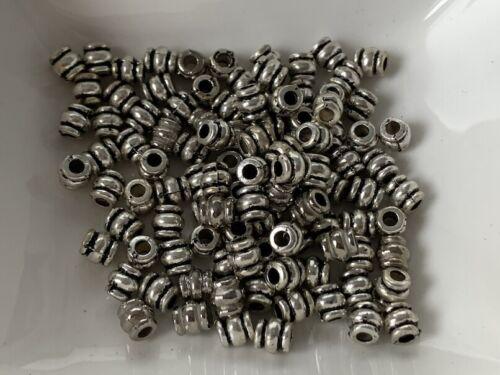 100 acabado sofisticado entre perlas perlas tapas 12x 6 mm plata spacer estrella r243