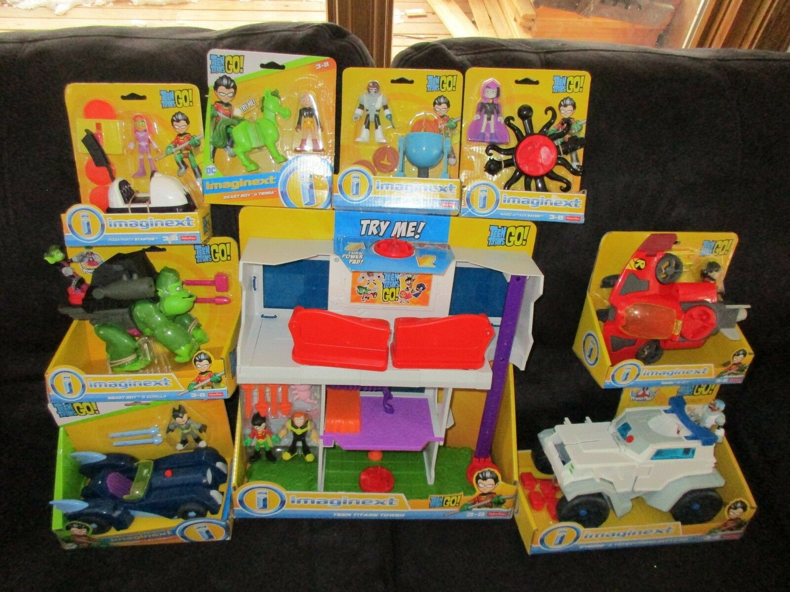 Fisher Price Imaginext Teen Titans Tower Tower Tower Super set Robin Jet Beast Ultimate NEW 3e8693