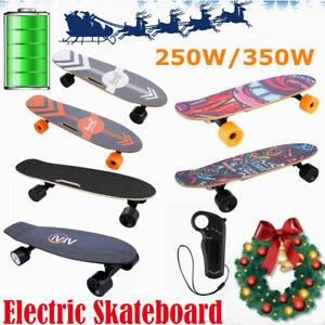 Skateboards-E-Komplettboard-350W-City-Elektrolongboard-mit-Fernbedienung-20km-h