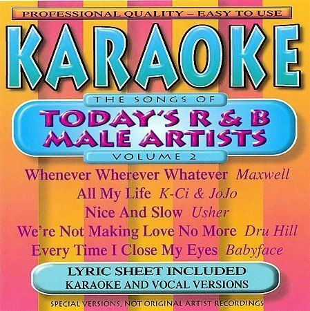 The Songs of Today's R&B Male Artists, Vol. 2 by Karaoke (CD, Jan-2003, BCI-Eclipse Distribution)