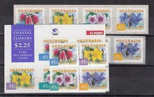 Australia-1999-Coastal-Flowers-Sets-Different-Prints-MNH-X9181