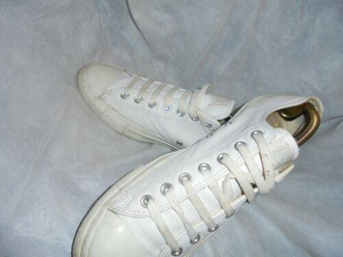 Uk Converse pelle ginnastica Vgc Scarpe taglia uomo in 44 10 da bianca Eu 6awtqF8x