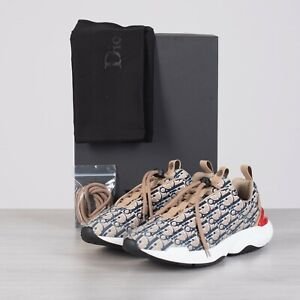DIOR-HOMME-1050-Beige-Dior-Oblique-039-B24-039-Sneakers-With-Cannage-Motif