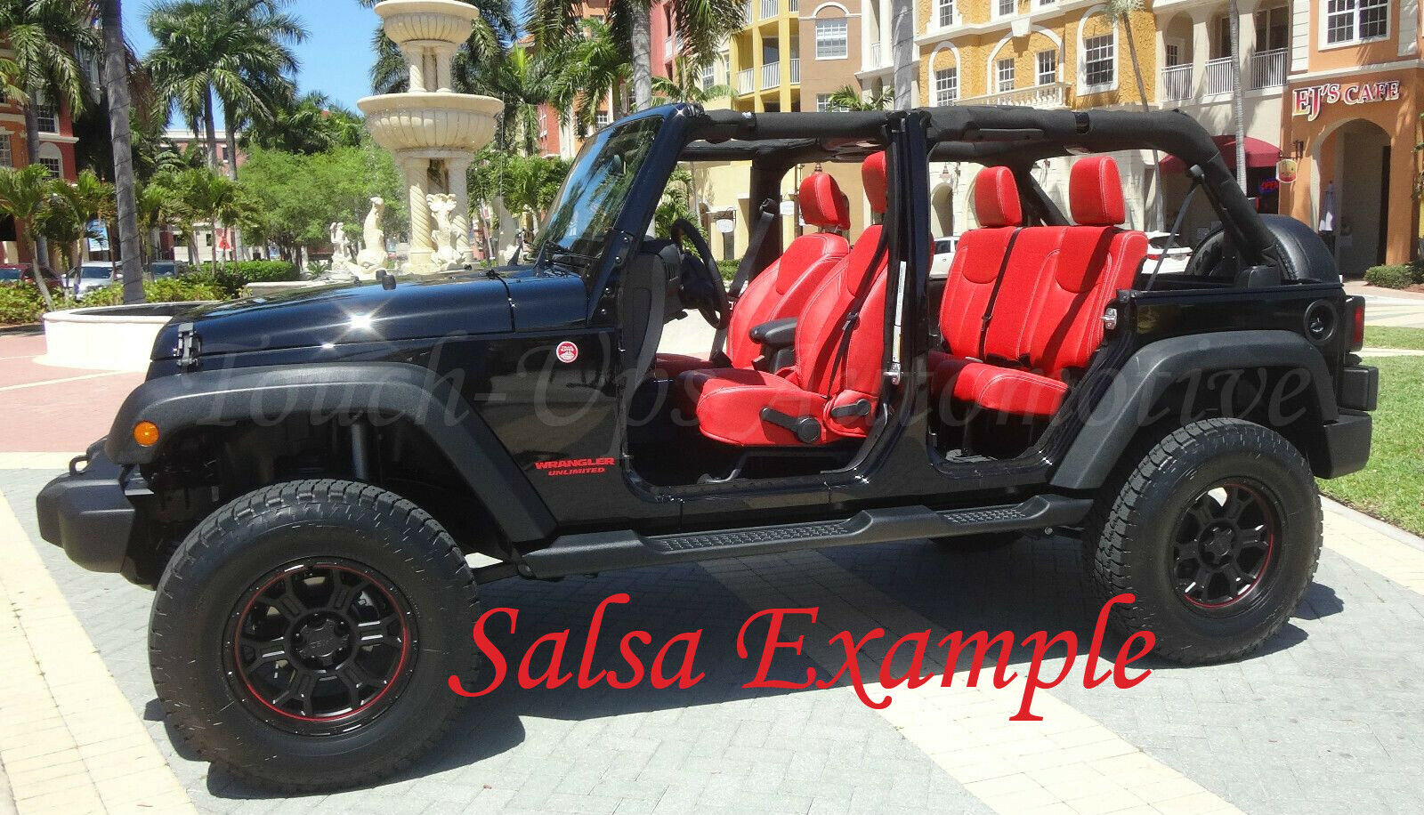 Leather Jeep Seats >> Details About 2013 2017 Jeep Wrangler Jk Katzkin Leather Seats New Salsa Red Custom Perforated